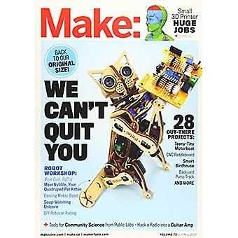 Make - Volume 70 by Mike Senese - 9781680455885 Book