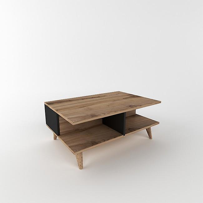 Table basse-apos; Lyon Color Walnut, Noir en Puce Melaminique 90x60x39 cm