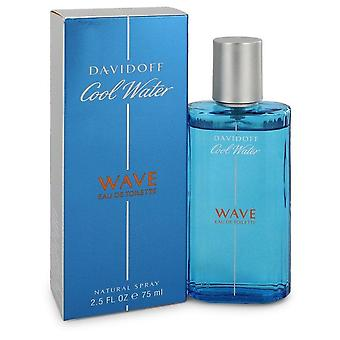 Cool Water Wave Eau De Toilette Spray By Davidoff 2.5 oz Eau De Toilette Spray