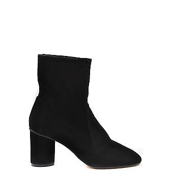 Stuart Weitzman Ezbc158030 Women's Black Suede Ankle Boots