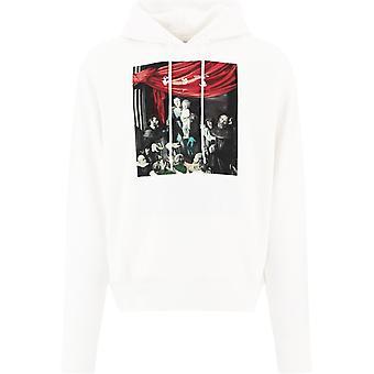 Off-white Ombb037e20fle0030110 Mænd's Hvid bomulds sweatshirt
