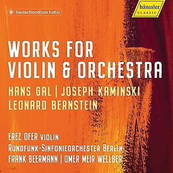 Works For Violin & Orchestra [CD] USA import