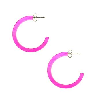 Pink UV Circle Ear Hoop