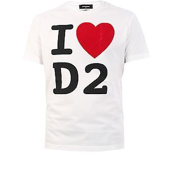 Dsquared2 S74gd0764s23758100 Män's White Cotton T-shirt
