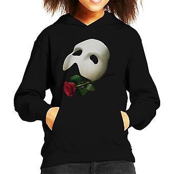 The Phantom Of The Opera Mask & Rose Kid's Hooded Sweatshirt