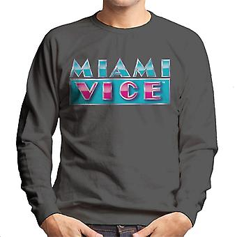 Miami Vice reflecterende logo mannen ' s Sweatshirt