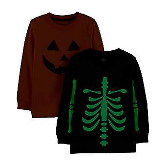 Simple Joys by Carter's Boys' Toddler 2-Pack Halloween Long-Sleeve Tees, Pump...