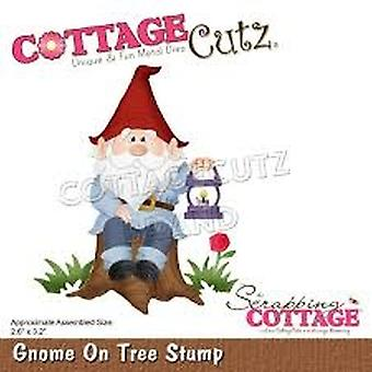 Scrapping Cottage Gnome On Tree Stump