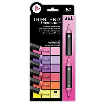 Spectrum Noir TriBlend Markers Kukkasekoitukset (6kpl) (SN-TBLE-FLBL6)