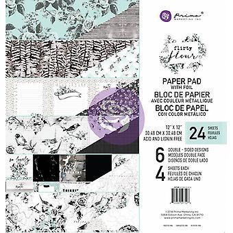 Prima Marknadsföring Flirty Fleur 12x12 Tums papperspad