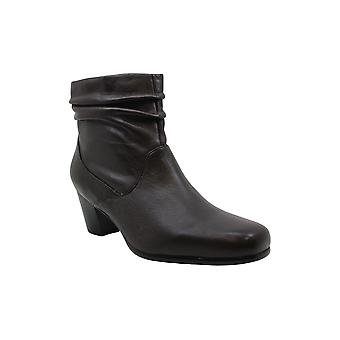 David Tate Womens shadow Leather Closed Toe Ankle Clog Boots