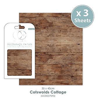Craft Consortium Cotswolds Cottage Decoupage Papers