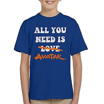 All You Need Is Avatar The Last Airbender Kid's T-Shirt