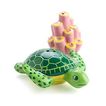 Turtle with Coral Salt & Pepper Set