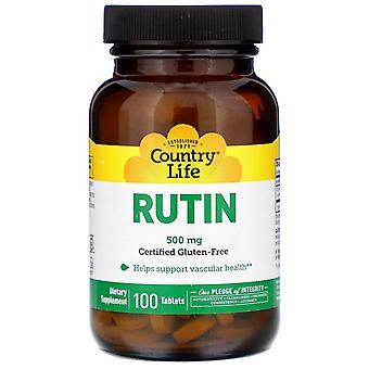 Country Life, Rutin, 500 mg, 100 Tablets