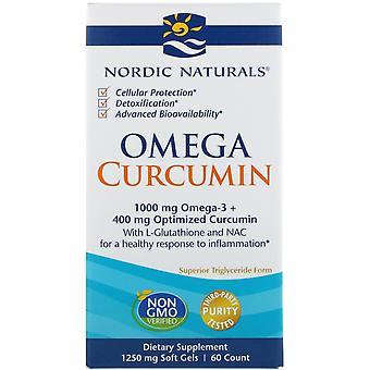 Nordic Naturals, Omega Curcumine, 1 250 mg, 60 Gels mous