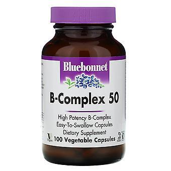 Bluebonnet Nutrition, B-Complex 50, 100 Capsules végétales