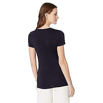 Marke - Lark & Ro Frauen's Kurzarm Scoop Hals T-Shirt, Atlantic N...