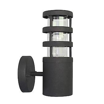 elstead hornbaek - 1 lys utendørs vegg lanterne lys svart, 304 ss IP44, E27