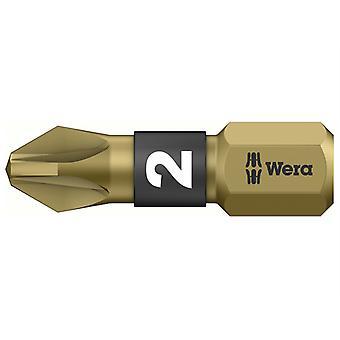 Wera 855/1 BTH BiTorsion Pozidriv PZ2 Insert Bit Extra Hard 25mm x10 WER056712