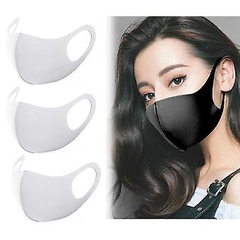 3 Pack White Face Mask, Washable Reusable  Mouth Guard