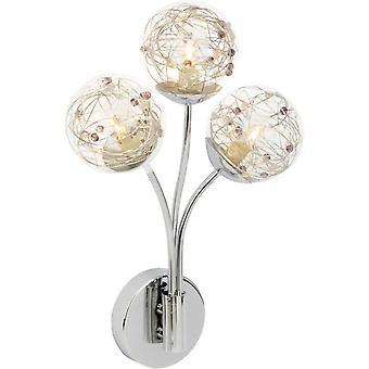 Lampada BRILLIANT Joya lampada da parete 3flg cromato 3x QT14, G9, 33W, adatto per lampade a presa a penna (non incluso) Scala