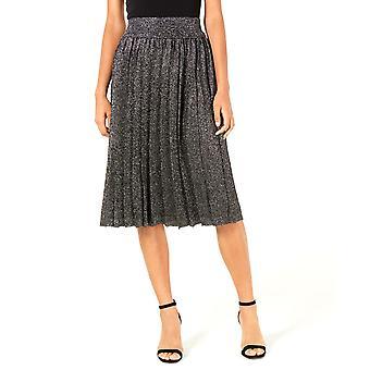 Lucy Paris | Nicole Pleated Metallic Skirt