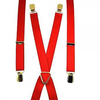 Cravatte Planet Plain Rosso Skinny Trouser Braces