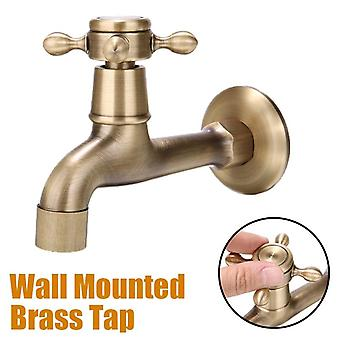 Antique Brass Decorative Faucet Wall-mounted Kitchen/bathroom Single Faucet Tap