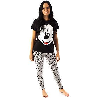 Disney Mickey Mouse Women's Novelty Character Pyjama Sleep Set