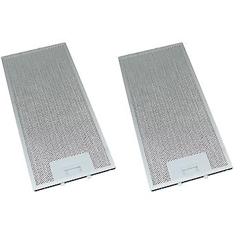 2 x Universal Cooker Hood Metal Grease Filter 165mm x 350mm