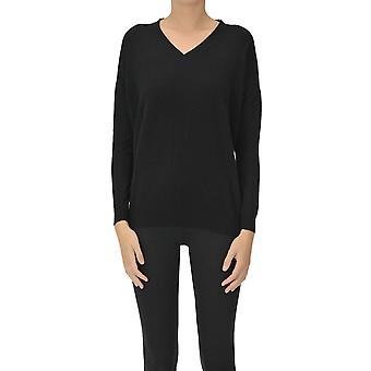 Aragona Ezgl157038 Women's Black Cashmere Sweater