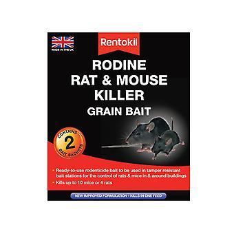 Rentokil Rodine Mouse & Rat Killer Grain Bait 6 Sachets RKLPSMR13