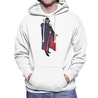 Dracula Cape Pose Men's Hooded Sweatshirt