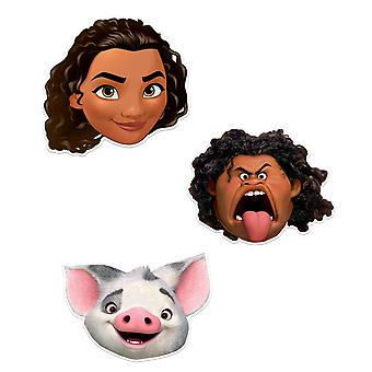 Moana Officiel Disney Child Size 2D Party Mask Variety 3 Pack