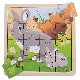 Bigjigs Rabbit & Kitten Puzzle