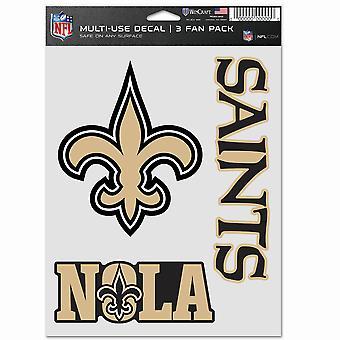 NFL ملصقا متعددة الاستخدامات مجموعة من 3 20x15cm -- نيو اورليانز القديسين