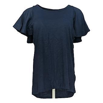DG2 par Diane Gilman Women-apos;s Top Blue Tunique Cotton Round Neck 718-519
