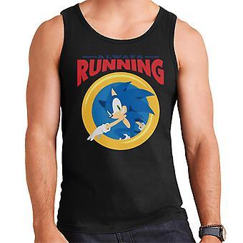 Sonic The Hedgehog Always Running Ring Men's Vest