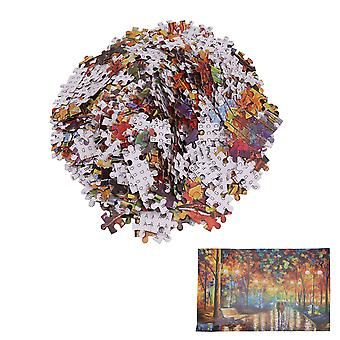 1000Pcs Flat Paper Puzzles for Kids Age of 8 and Up Rainy Night Walking