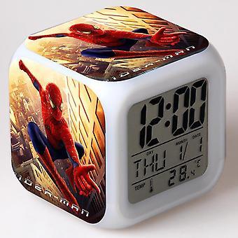 Colorful Multifunctional LED Children's Alarm Clock -Homem Aranha #1
