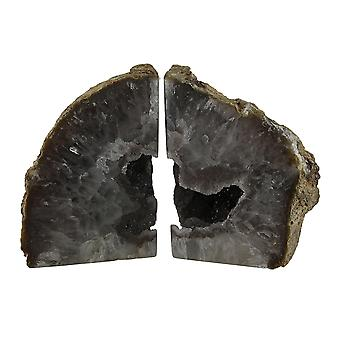 Large Natural Banded Brazilian Agate Drusy Geode Bookends 7-11 Pounds