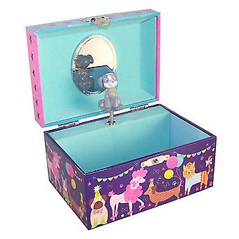 Детский темно синий домашние музыкальные ювелирные коробки