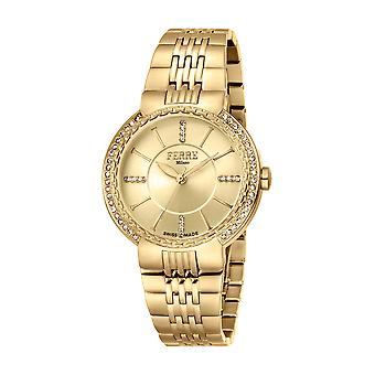 Ferre Milano Ladies Champagne Dial GP MB Watch