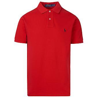 Ralph Lauren 710548797005 Men's Red Cotton Polo Shirt