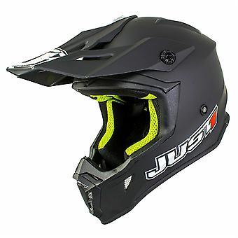 Just 1 J38 MX Full Face Off Road Helmet Black ACU Approved DD-Ring Fastening