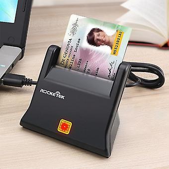 ROCKETEK SCR2 CAC ID SIM Chip Lecteur de cartes à puce