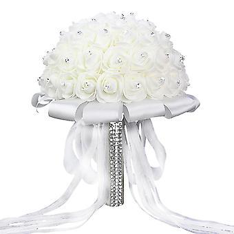 Fiore rosa Strass Damigella sposa Sposa Mariage Accessori per matrimoni