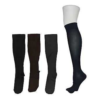 Legacy Frauen's M/L Wide Graduated Compression Socken 4 Pack braun A294527