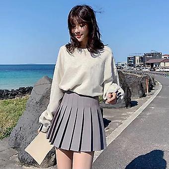 女性スカートファッションハイウエストプリーツ甘いかわいいダンスコスプレプレッピーユニフォーム